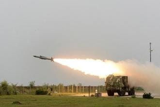 Developed by the DRDO, the Akash missile system has the capability to neutralise aerial targets such as fighter jets, cruise missiles and air-to-surface missiles as well as ballistic missiles. Photo: AFP