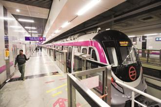 The Janakpuri-Kalkaji stretch of Delhi Metro's Magenta Line will enable commuters travelling from Gurugram to change trains at Hauz Khas to reach South Delhi and Noida. Photo: PTI