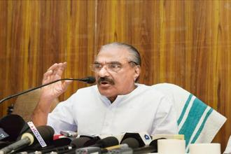 K.M. Mani said his decision to align with the United Democratic Front in Kerala was taken in view of 'the necessity for unity of regional parties to fight communalism at the national level'.Photo: PTI