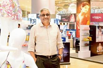 Kishore Biyani, CEO of Future Group. Shares of Future Consumer on Tuesday settled at Rs55.85 apiece on BSE, up 2.10%, from their previous close. Photo: Hemant Mishra / Mint