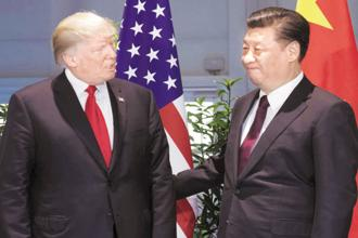 US President Donald Trump (left) and his Chinese counterpart Xi Jinping. Photo: AP