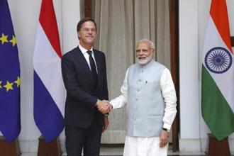 Dutch PM Mark Rutte's visit comes within a year of Prime Minister Narendra Modi's trip to the Netherlands in June last. Photo: AP