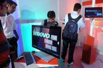 Shares of Lenovo were little unchanged Thursday morning. Photo: AFP