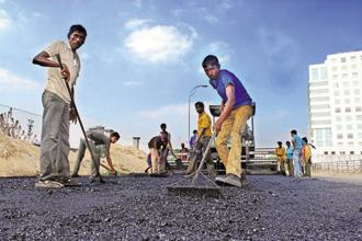 The road sector has seen growth rate of 25% CAGR from 11km/day to over 26km/day over the last four years. Photo: Mint