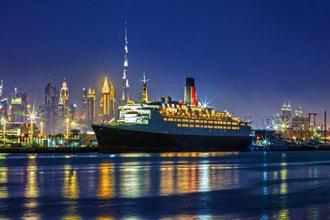 The QE2's magic is intact even though it's permanently docked in Dubai.