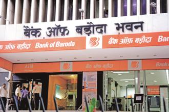 On Friday, Bank of Baroda shares gained 1.8% to close at Rs1,41.20 apiece on the BSE, while the benchmark Sensex gained 0.76% to close at 34,924.87 points. Photo: Mint