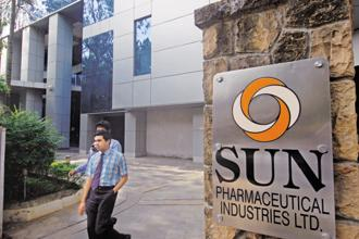 Shares of Sun Pharma ended 0.97% up at Rs466.55 apiece on the BSE today. Photo: Mint