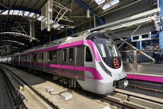 Three stations—IIT, Greater Kailash and Terminal 1-IGI Airport—on the Delhi Metro Magenta Line, which is set to be inaugurated on Monday, will also be renamed. Photo: PTI