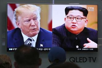 Donald Trump had earlier indicated the summit could be salvaged after welcoming a conciliatory statement from North Korea saying it remained open to talks. Photo: AP