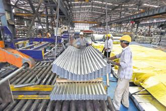 The rapidly shrinking excess capacity is also one reason why there has been a bidding war for insolvent steel firms such as Bhushan Steel and Essar Steel. Photo: Bloomberg