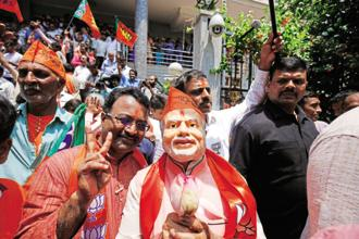 Supporters of the BJP celebrate early results from the Karnataka assembly elections in Bangalore. Countless elections the world over have shown how Kenneth Arrow's mathematics work in actual practice. Photo: Ramegowda Bopaiah/Mint
