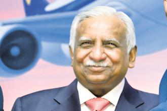 Jet Airways promoter Naresh Goyal. Shares of Jet Airways rose nearly 2% to Rs427.30 in late morning trade on the BSE. Photo: Aniruddha Chowdhury/Mint