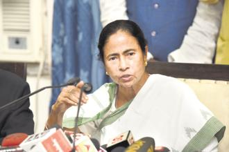 Chief minister and TMC chief Mamata Banerjee. The outcome of the byelection in Maheshtala is a major setback for the CPM because the constituency once had a large number Left-backed trade unions held sway over the electorate. Photo: Indranil Bhoumik/Mint