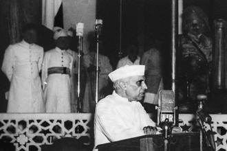 Michael Edwardes forgets that Jawaharlal Nehru was the founder of modern Indian democracy. Photo: AFP