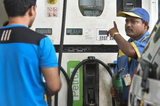 Automobile fuel prices have become a political issue with the Left-front government in Kerala cutting prices by Re1 per litre from Friday and challenging the centre to follow suit. Photo:PTI