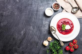 Borsch made with beetroot, vegetables and meat. Photo: iStock