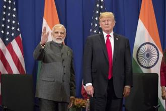 US President Donald Trump and PM Narendra Modi. Photo: AP