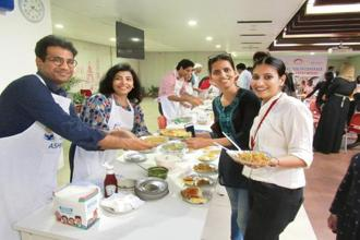 Food festival attended by employees of Johnson & Johnson Medical India.