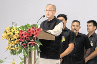 Former president Pranab Mukherjee during his address to RSS cadres in Nagpur last week. Photo: AP