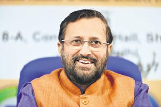 HRD minister Prakash Javadekar. The HRD ministry is deliberating whether the government should have a say on the appointment of an IIM chairman. Photo: Pradeep Gaur/Mint