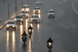 Representational image. Light rain was witnessed in many areas of Delhi on Saturday evening, the weatherman said. Photo: PTI
