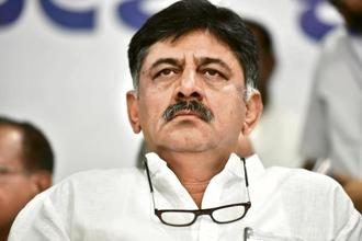 Karnataka minister for irrigation and medical education D.K. Shivakumar. Photo: HT
