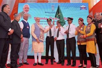 The UDAN regional connectivity scheme was flagged off by Prime Minister Narendra Modi in Shimla last year. Photo: PTI