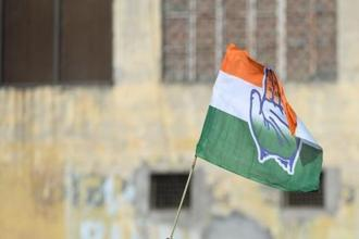 A file photo of Congress party's flag. Photo: AFP