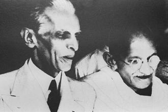 Mahatma Gandhi and Muhammad Ali Jinnah. Photo: AFP