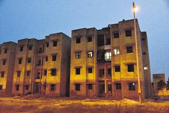 A government housing society with a single occupant. Photo: Pradeep Gaur/Mint