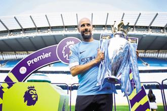 Manchester City manager Pep Guardiola after winning the 2018 Premier League title. Guardiola's insistence on possession has seen him being labelled as dogmatic. Photo: Reuters
