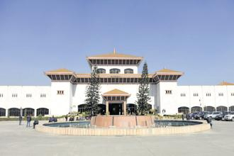 The parliament building in Kathmandu. Photo: AFP