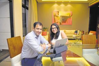 Reliance Nippon Life Asset Management CEO Sundeep Sikka with his daughter Saima. Photo: Abhijit Bhatlekar/Mint