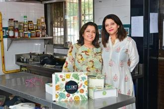 The Diet founders Nimisha Iyer (right) and Preeti Gosain believe healthy food does not have to be boring. Photo: Aniruddha Chowdhury/Mint