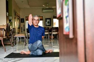 I don't have any one favourite pose but Bhujangasana, or cobra pose, has helped me a lot. This asana provides instant relief to the tired back. Rujan Panjwani practises Iyengar and power yoga. Photo: Aniruddha Chowdhury/Mint