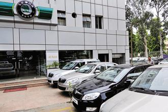 Skoda car showroom in south Delhi. About 18 months ago, Skoda Auto was tasked with developing a sustainable model campaign for both Skoda and Volkswagen brands in the Indian volume segments. Photo: Ramesh Pathania/Mint
