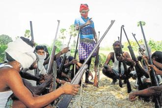 Certain Adivasi areas witness periodic bursts of bloodletting. Maoism has ruled here for a long time. Photo: AFP