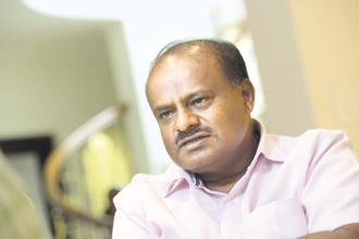 Karnataka chief minister H.D. Kumaraswamy . Photo: Mint