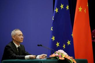 China and the European Union firmly oppose trade unilateralism and protectionism and think these actions may bring recession and turbulence to the global economy, says Chinese vice premier Liu He. Photo: Reuters
