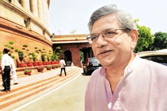 The CPM re-elected Sitaram Yechury as its general secretary. File photo: HT