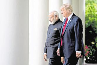 Prime Minister Narendra Modi and US President Donald Trump. Photo: Bloomberg