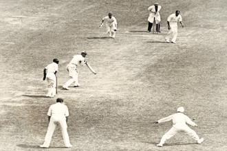 The first Indian Test team led by C.K. Nayudu took the field in 1932 with few expectations. Yet, it had the powerful English team in trouble in no time. Photo: Getty Images