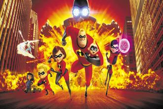 In 'Incredibles 2', Elastigirl is out fighting crime while Mr Incredible stays home with the kids.