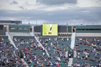 A file photo of a Hawk-Eye display at Centre Court. Photo: Alamy