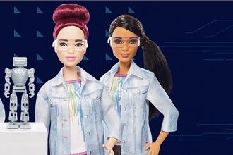 Robotics Barbie hopes to improve women's professional lives. Photo courtesy: Mattel