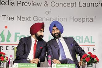 Singh brothers, Shivinder and Malvinder, are former promoters of Fortis Healthcare that is now up for sale. Photo: HT