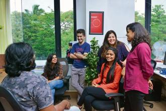 Though most of its employees are aged 25, The Minimalist's office has a 'grown-up' vibe. Photo: Aniruddha Chowdhury/Mint