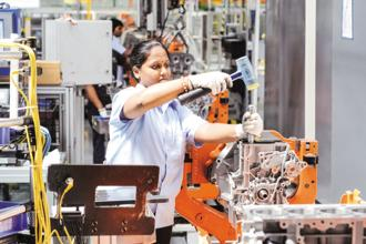 Reflecting greater production requirements, manufacturing firms were encouraged to engage in purchasing activity and raise their staffing levels. Photo: Mint