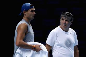 Many of the habits one associates with Rafael Nadal have been instilled by his uncle and first coach, Toni. Photo: Getty Images