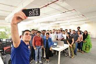 Ankur Warikoo says his lunch dates with employees are part of building a collaborative work culture at Nearbuy. Photo: Priyanka Parashar/Mint